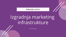 izgradnja marketing infrastrukture